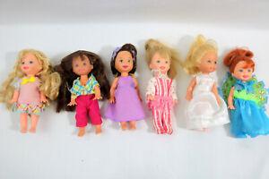 Lot of 6 Mattel Barbie Kelly & Li'l Friends of KELLY DOLLS Used