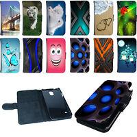 Book Tasche für Smartphone Flip Case Cover Hülle Etui Bumper Design Motiv