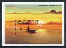 St Vincent & Grenadines 1995 MNH WWII WW2 VJ Day 50th Ann 1v S/S Ships Stamps
