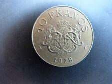 Pièce monnaie MONACO 10 Francs 1978 RAINIER III bon état