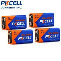 4Pcs 9V 6LR61 Industrial 9 Volt (9V) Alkaline Batteries EN22 1604 PKCELL