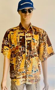 Vintage Thijs Short Sleeved Shirt Large Pool Casual Beach Pool Beer Garden Sun