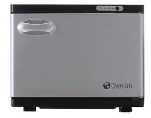 NEW EarthLite Salon Standard UV Hot Towel Cabinet Towel Sanitizer Warmer Black
