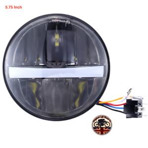 Cafe Racer Motorbike Headlight Headlamp LED CREE x 1 Light DRL 5.75″ E APPROVED