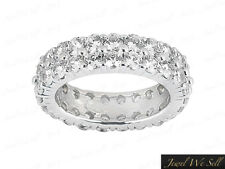 1.60Ct Round Diamond Dual Row Shared Prong Eternity Band Ring Platinum Si1 Prong