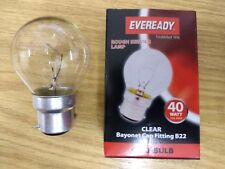 10  x Ever Ready Golf  Ball Lamps  40w BC Clear - Same Day dispatch