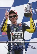 Valentino Rossi Hand Signed Movistar Yamaha 12x8 Photo 2014 MotoGP.