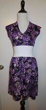 New York Couture Floral Dress sz S NWOT Purple/ White PinUp Glam Lilacs