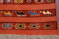 Flat Weave Animal Pictorial 4x6 Kilim Tribal Handmade Oriental Area Rug Carpet