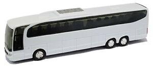 1:87 Scale Mercedes Benz Travego Tri-Axle Touring Coach - White - BNIB