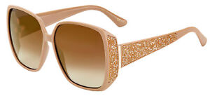 Jimmy Choo CLOE/S Nude/Brown Shaded 62/14/140 women Sunglasses