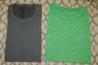 Lululemon Men's LOT of TWO METAL VENT TECH Shirts Sleeveless Large Gray/Green