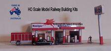 HO Scale Mobil Garage Petrol Gas Station Model Railway Building Kit - REMG2