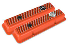 Holley 241-136 Muscle Car Series SBC Valve Covers Factory Orange Finned Z28