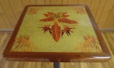 "24"" x 24""  Mahogany Autumn Print Pub Table Top"