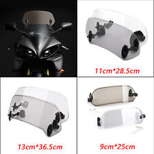 Universal Motorcycle Adjustable Clip On Windshield Extension Wind Deflector A7