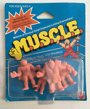 1986 MATTEL M.U.S.C.L.E. MUSCLE MEN SEALED 4 IN PACK.
