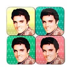 Kitsch Elvis Coasters, Elvis Home Decor, 50s Rock n Roll Elvis Gift, Kitsch Gift