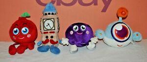 4 x Moshi Monsters Moshlings Soft Toys Job Lot. Blinky, Mini Ben , Cherry Bomb