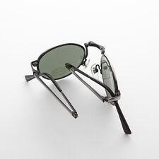 a43b4e3ad80 New ListingRare Round Classic Folding Gun Metal Vintage Sunglasses with  Case -Houdini