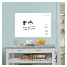 WHITE MESSAGE BOARD WALL STICKER SELF-ADHESIVE LAMINATED W/ DRY ERASE PEN