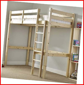 Loft Bunk Bed - Heavy Duty 3ft single wooden high sleeper bunkbed - CAN BE USED