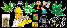 13 Weed Marijuana Cannabis Parody Vinyl Stickers