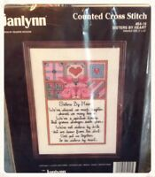 "Janlynn Counted Cross Stitch Kit Sisters by Heart 9""x12"" - NEW"