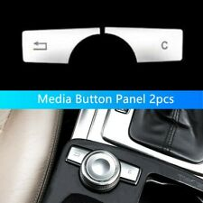 For Mercedes Benz C/E/GLK/CLS Class W204 W212 Multimedia Buttons Cover - Silver
