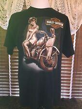 Men's VGUC HARLEY DAVIDSON XL Black Harley Girl HD Of Gainesville FL T-Shirt