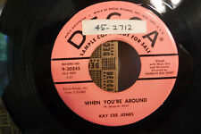 Kay Cee Jones, I'm Having A Breaking-Up Party/When You're, Decca 9-30354, PROMO