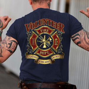 Proud To Be A Vonlunteer Fireman Tradition Dedication Sacrifice T-Shirt