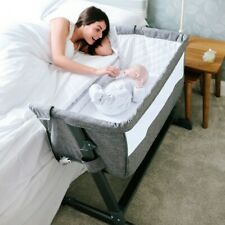 BABYLO Cozi Sleeper Next To Me Baby Newborn Infant Cot Crib Drop Side SLATE GREY