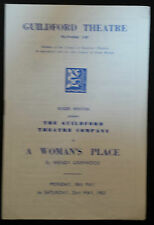 1953 Guildford Theatre: Lesley Merritt Brian Panter Judith Gic in  WOMEN'S PLACE