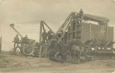 WWI era RPPC American Soldiers, Steam Engine & Harvester, US Tank, France