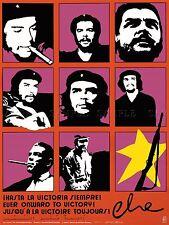 Pubblicità Rivoluzione Cuba Castro, Guevara PISTOLA SIGARO ottobre Arte Poster Stampa lv7015