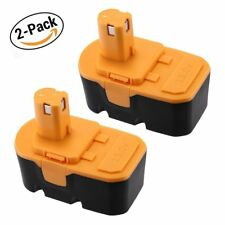 2 Pack Replace for Ryobi 18V Battery 2.0AH ONE+ P100 P101 ABP1801 ABP1803 13022