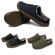 Men Winter Warm Slip On Shoes Fur Lined Moccasin Slippers Fuzzy House Shoes New