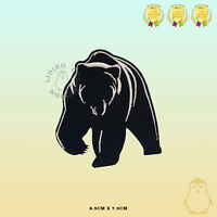 Grizzly Bear Black Bear Embroidered Iron On Sew On Patch Badge For Clothes etc
