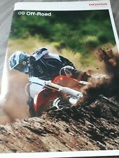 """HONDA Motorbike Brochure """"OFF ROAD 09"""" uk catalogue 28 packed pages LAST 1"""