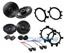 "PIONEER 6.5"" COMPONENT CAR TRUCK STEREO FRONT & REAR DOOR SPEAKERS W/ MOUNTS"