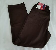 NWT KMART MISSES BROWN CHIC COMFORT COLLECTION PULL PLUS ON PANT SIZE 12 A
