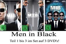 < 3 DVDs * MEN IN BLACK - TEIL 1 - 3 IM SET -  Will Smith # NEU OVP <