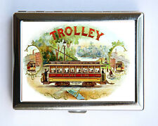 Vintage Trolley Cigarette Case Wallet Business Card Holder cigar label victorian