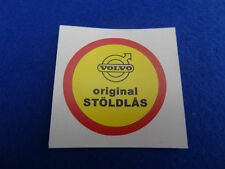 VOLVO CLASSIC THEFT PROTECTION IN SWEDISH TEXT DECAL STICKER
