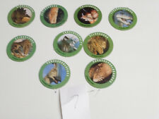 POGS BURGER KING SET # 7 COMPLETE SET of ALL 9 DINOSAURS FRESH OFF THEIR CARD