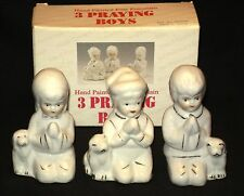 Figurines 3 Praying Boys Hand Painted Porcelain NIB New Old Stock Free Shipping