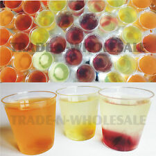 DISPOSABLE CLEAR STRONG PLASTIC SHOT GLASSES PARTY SHOTS JELLY JAGER BOMB CUPS