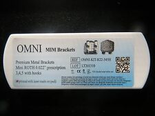 5 kits Dental Orthodontic Mini Roth .022 Premium Bracket Braces 022 from USA