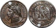 NAPOLEON III  10 centimes 1870 Satirique